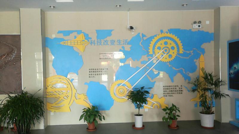 顾路中学大厅墙面设计制作