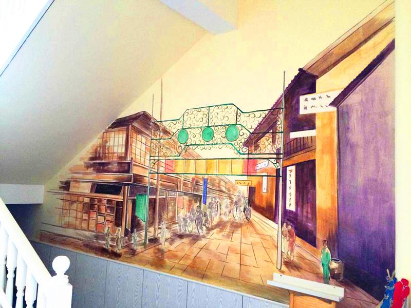 闵行三幼分校手工绘画走廊