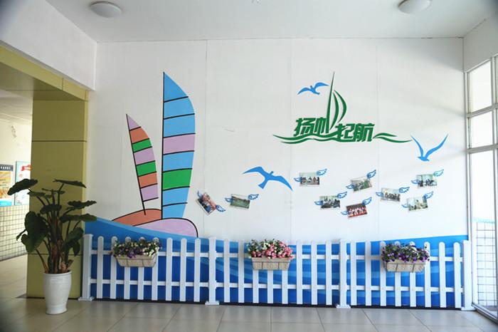 杨思镇小学走廊宣传栏文化建设
